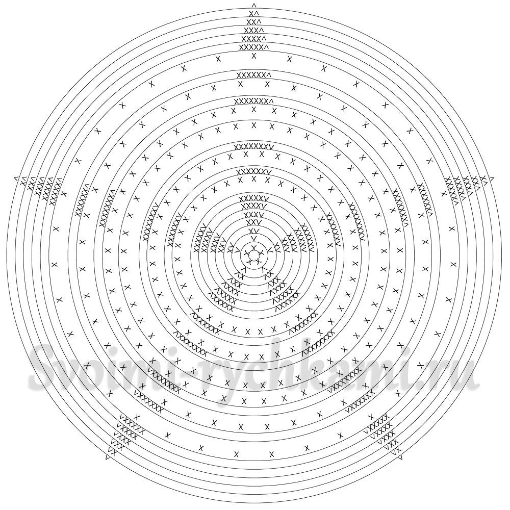 схема вязания елочного шара