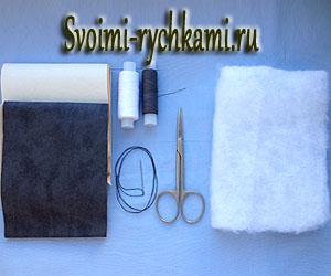 бульдожка-брелок из кожи