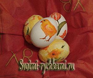 пасхальное яйцо декупаж