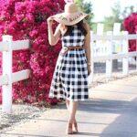 модные клетчатые платья