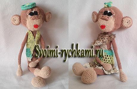 вязаная обезьянка