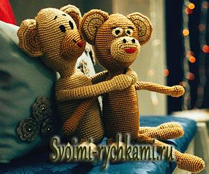 вязаные обезьянки